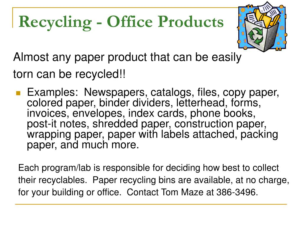Recycling - Office Products