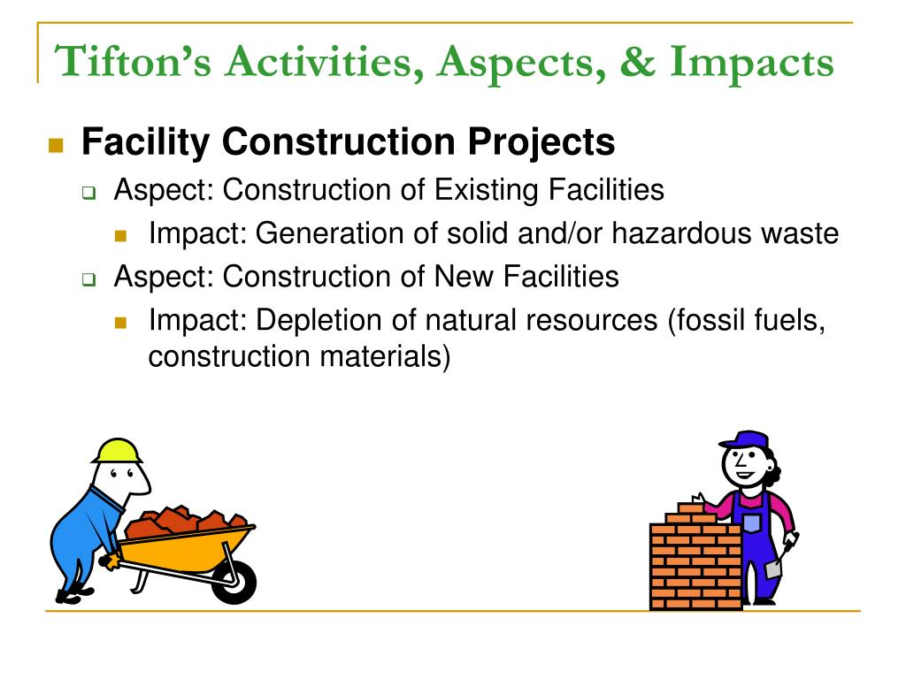 Tifton's Activities, Aspects, & Impacts