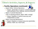 tifton s activities aspects impacts20