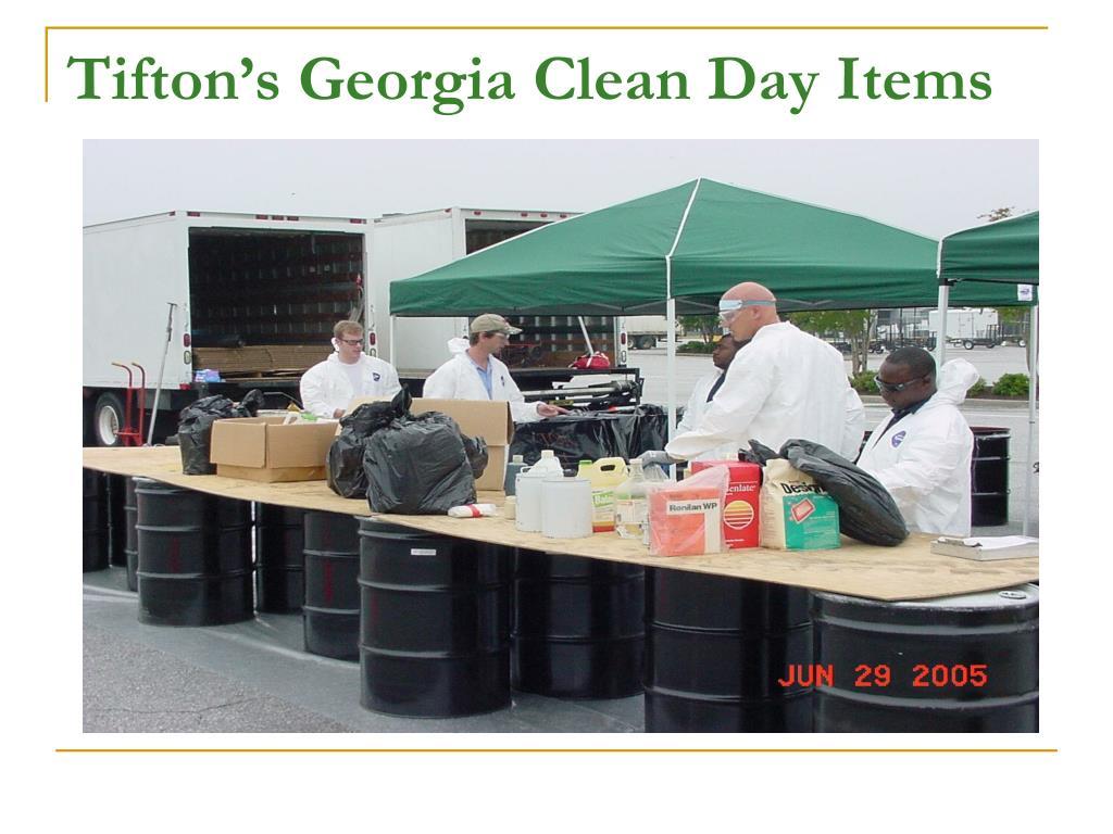 Tifton's Georgia Clean Day Items