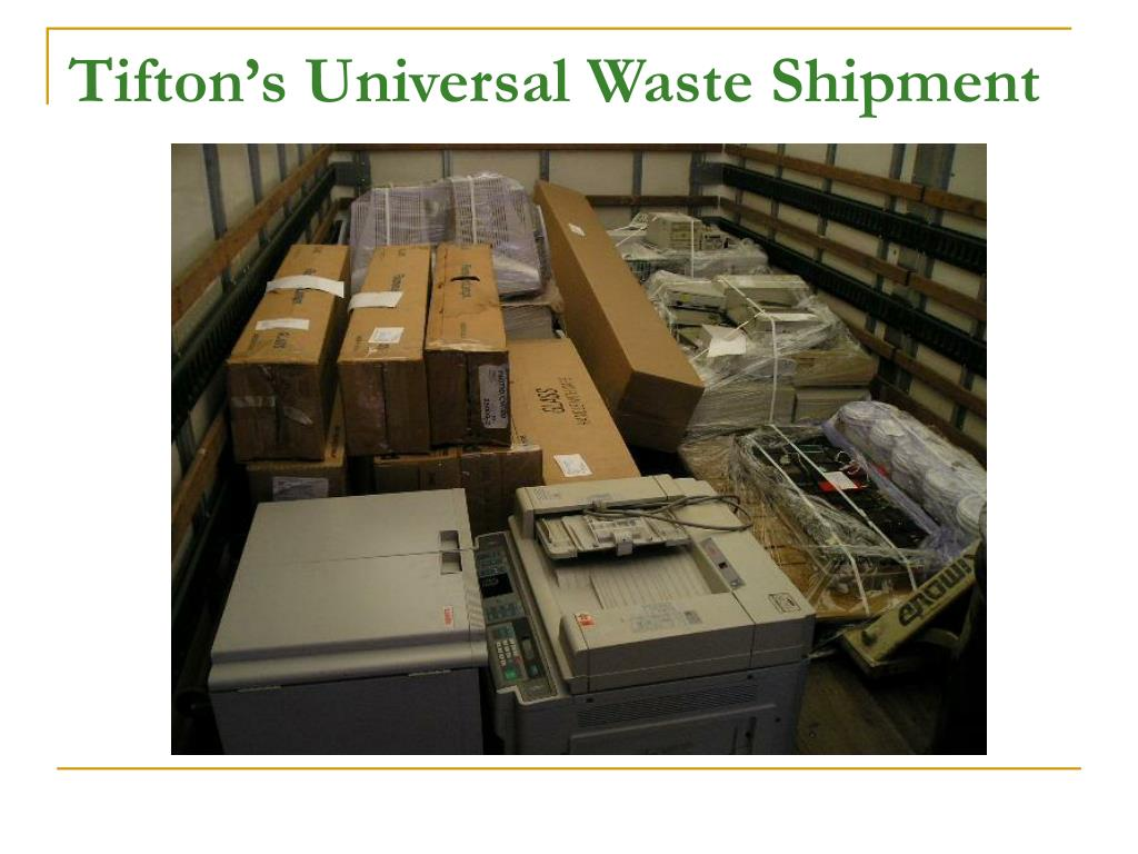 Tifton's Universal Waste Shipment