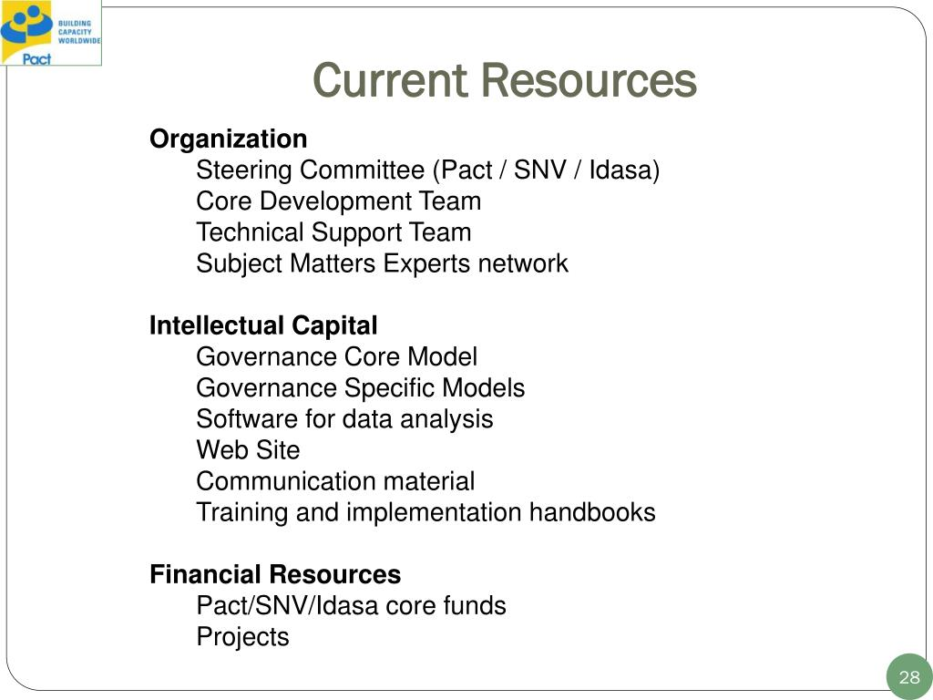 Current Resources