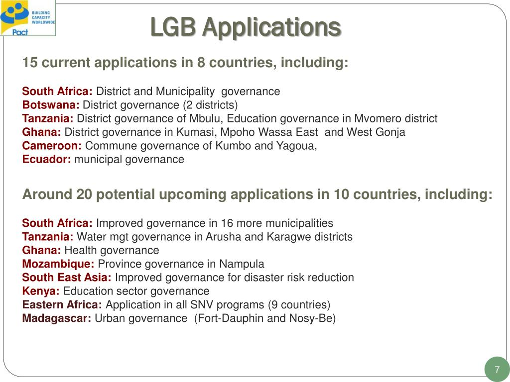 LGB Applications