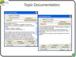 topic documentation