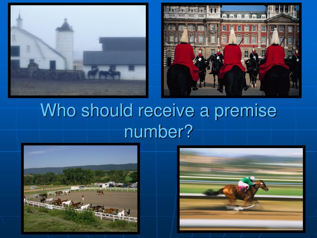 Who should receive a premise number?