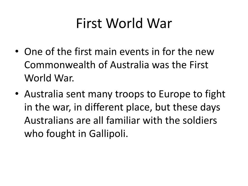 First World War