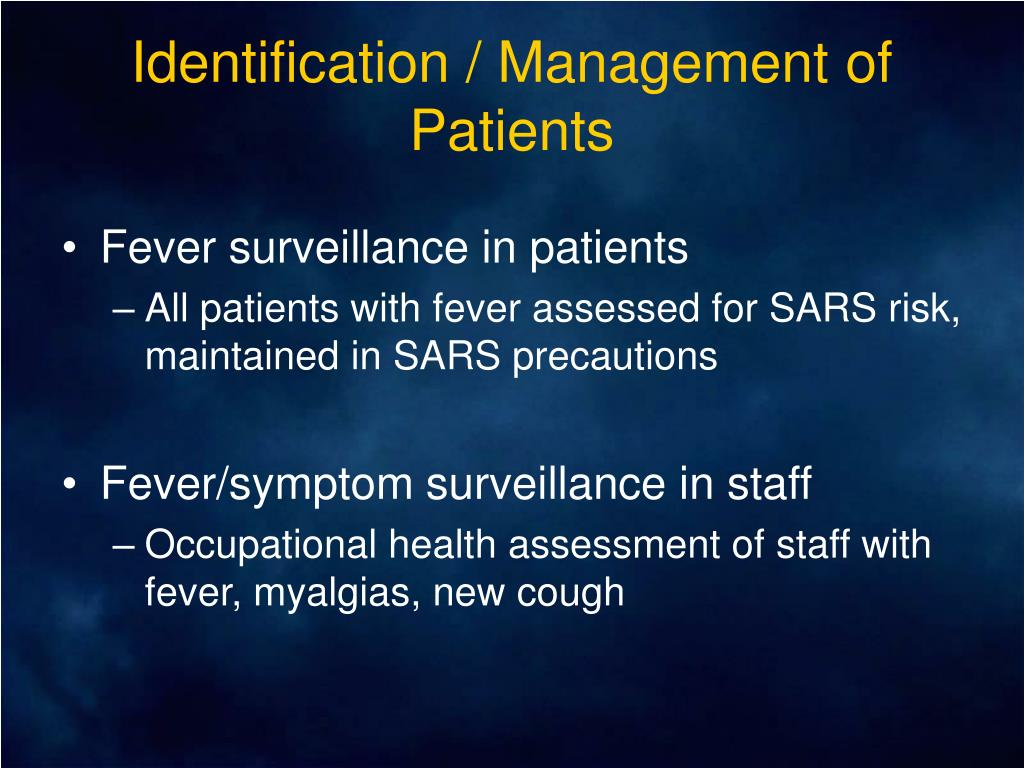 Identification / Management of Patients
