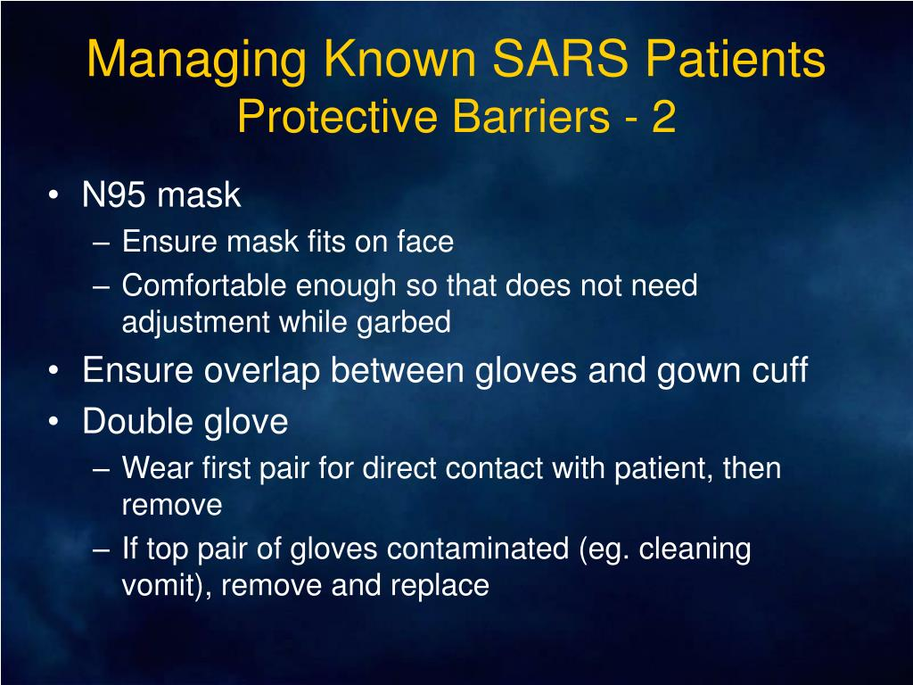 Managing Known SARS Patients