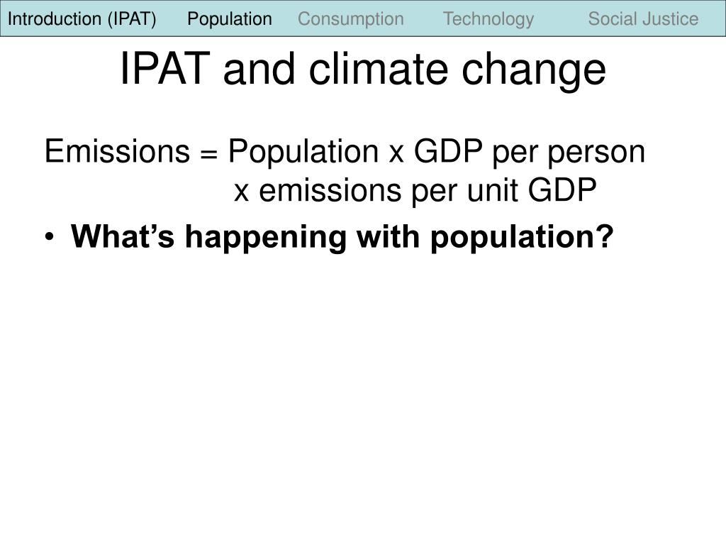 Introduction (IPAT)      Population