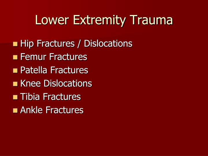 Lower extremity trauma2