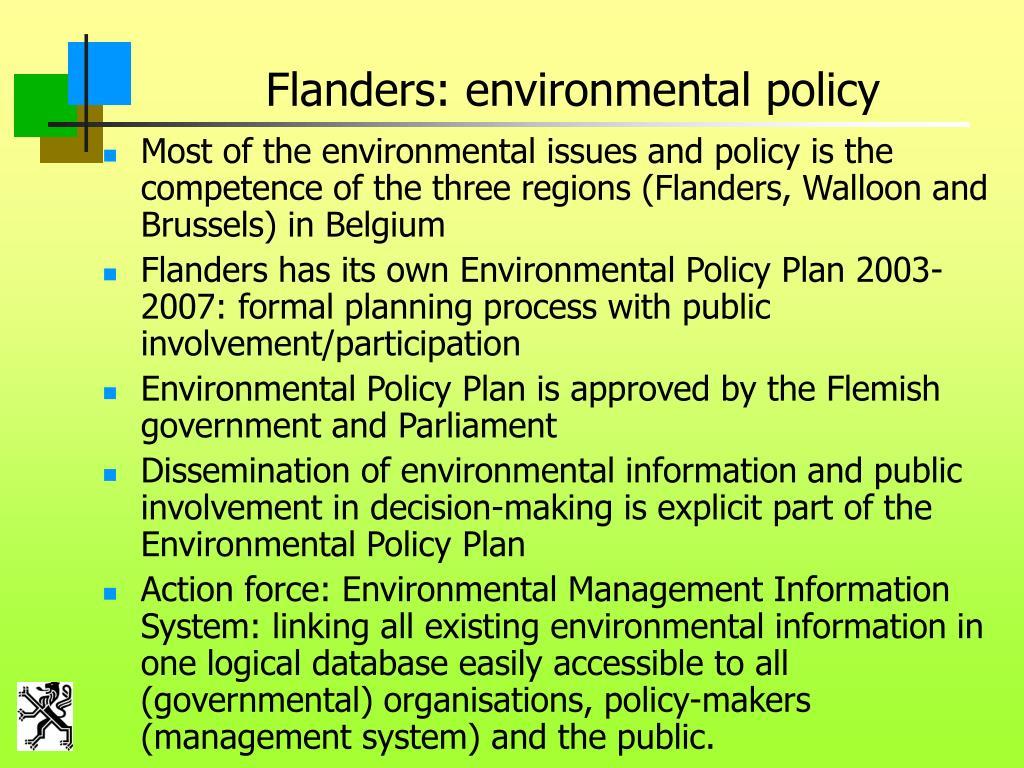 Flanders: environmental policy