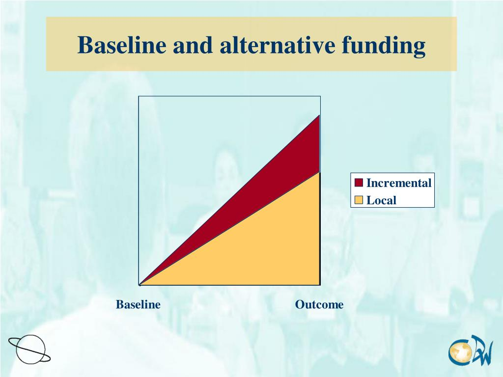 Baseline and alternative funding