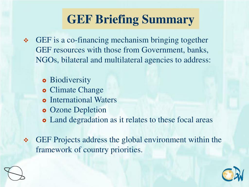 GEF Briefing Summary