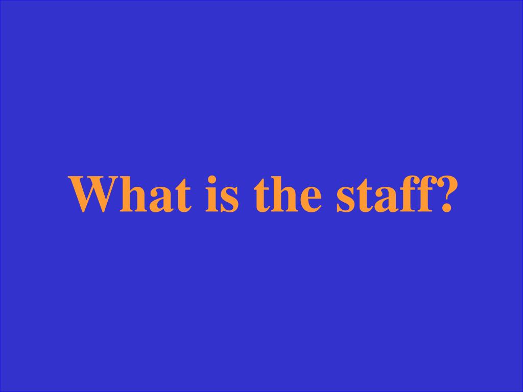 What is the staff?