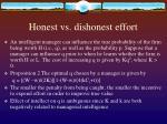 honest vs dishonest effort