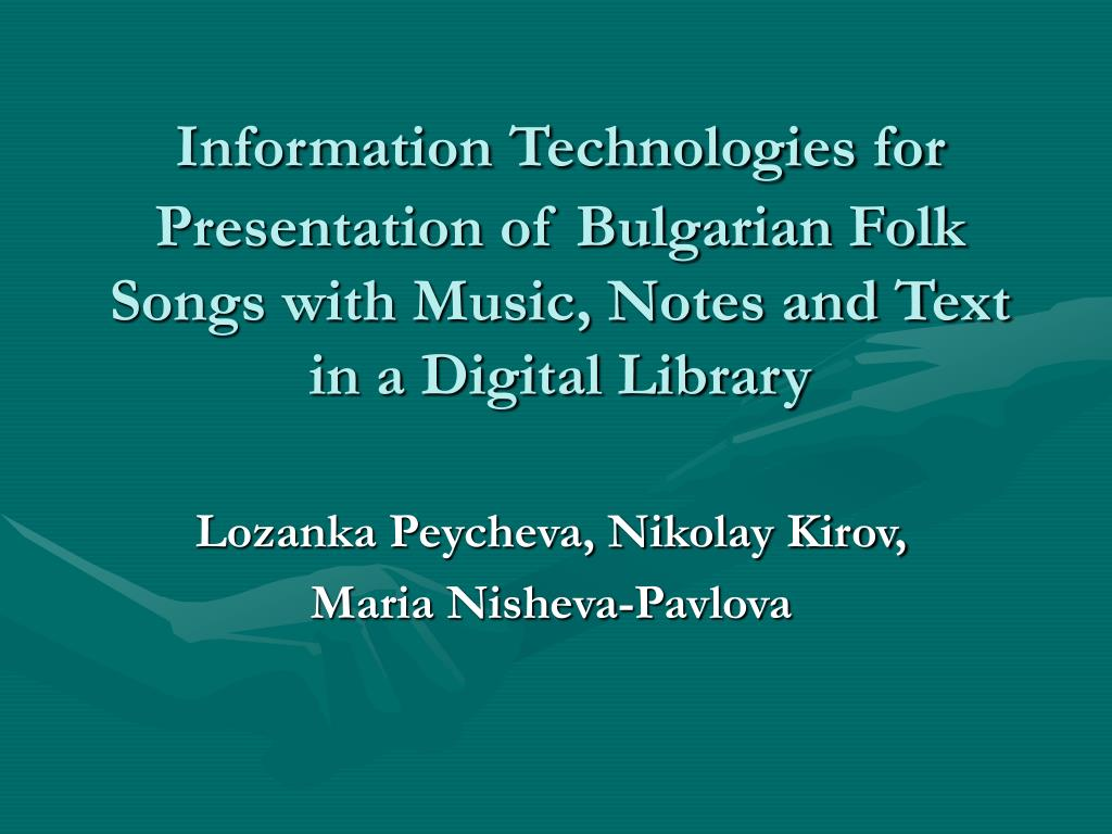 Information Technologies for