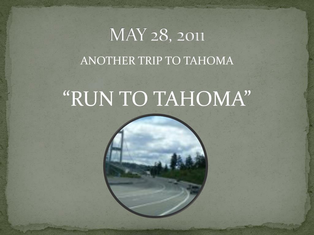 MAY 28, 2011