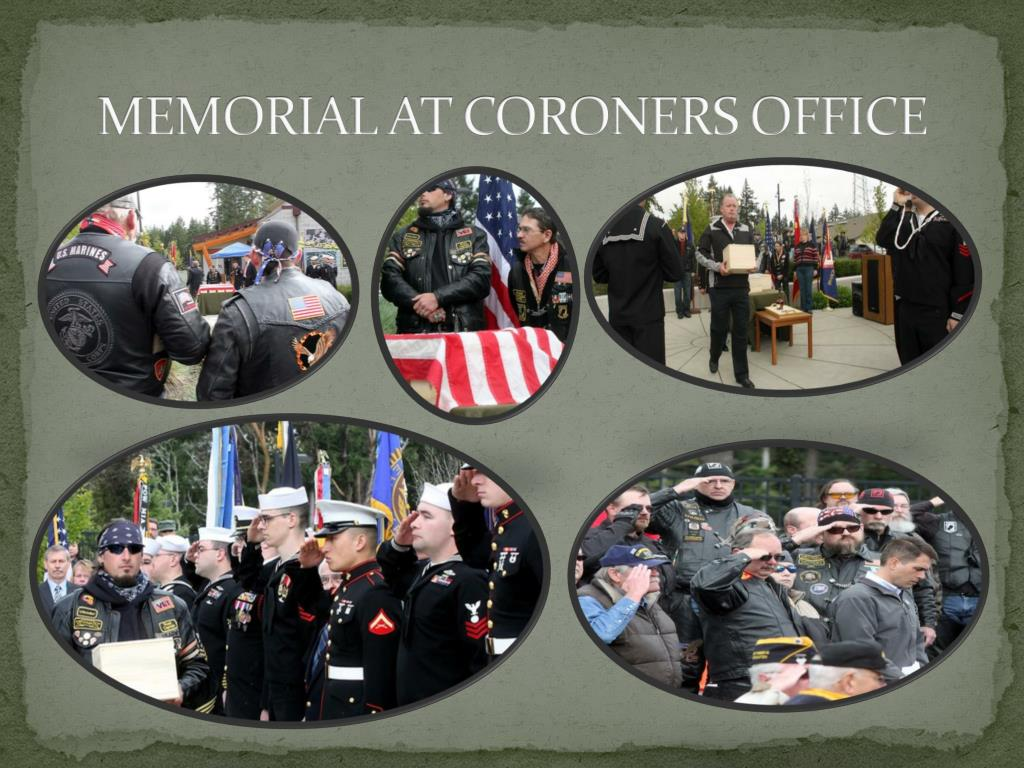MEMORIAL AT CORONERS OFFICE