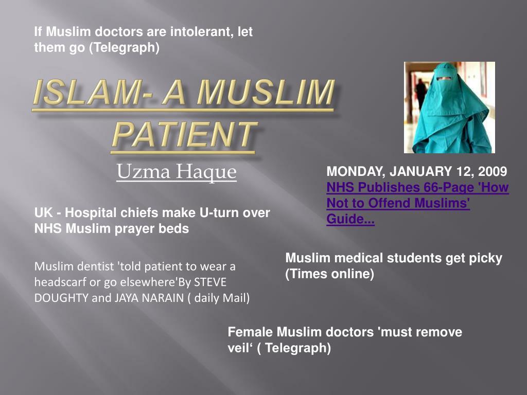 If Muslim doctors are intolerant, let them go (Telegraph)