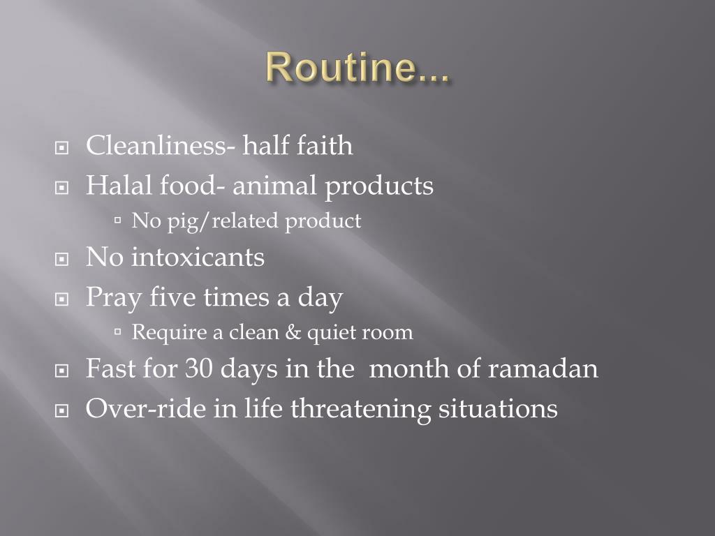 Routine...