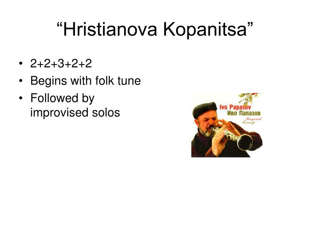 """""""Hristianova Kopanitsa"""""""