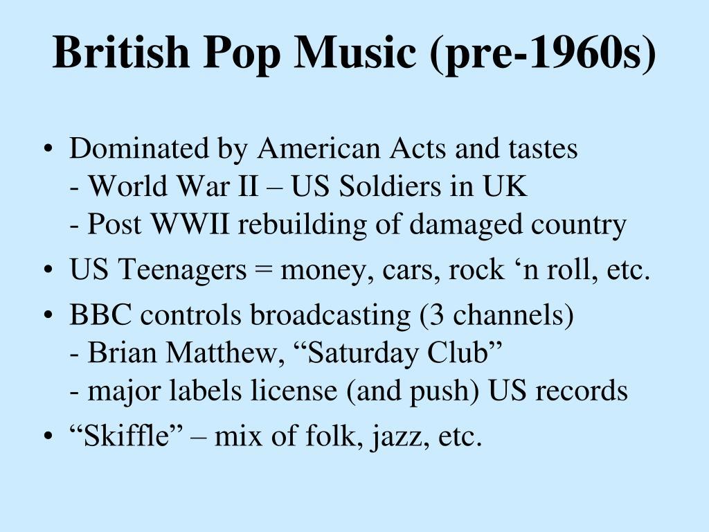 British Pop Music (pre-1960s)
