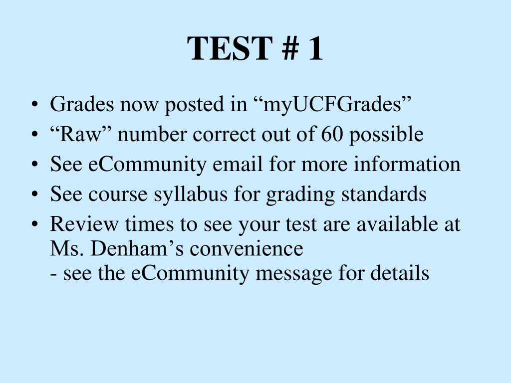 TEST # 1