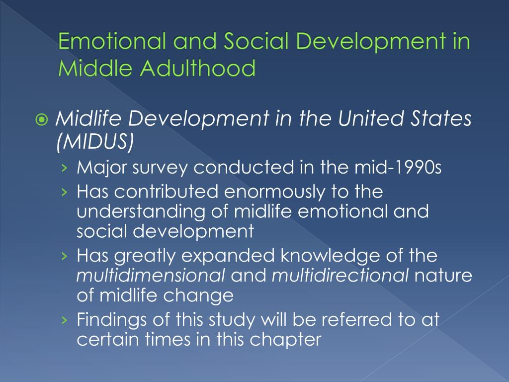 emotional development in early adulthood essay Early childhood emotional and social development: identity and self-esteem.