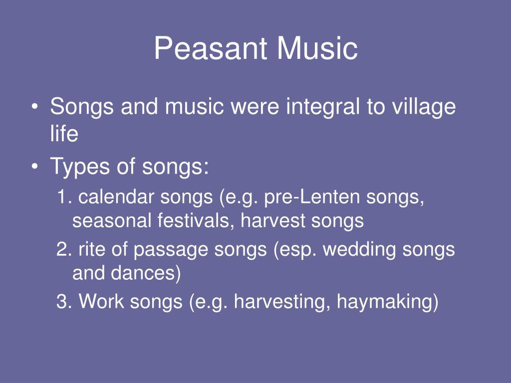 Peasant Music