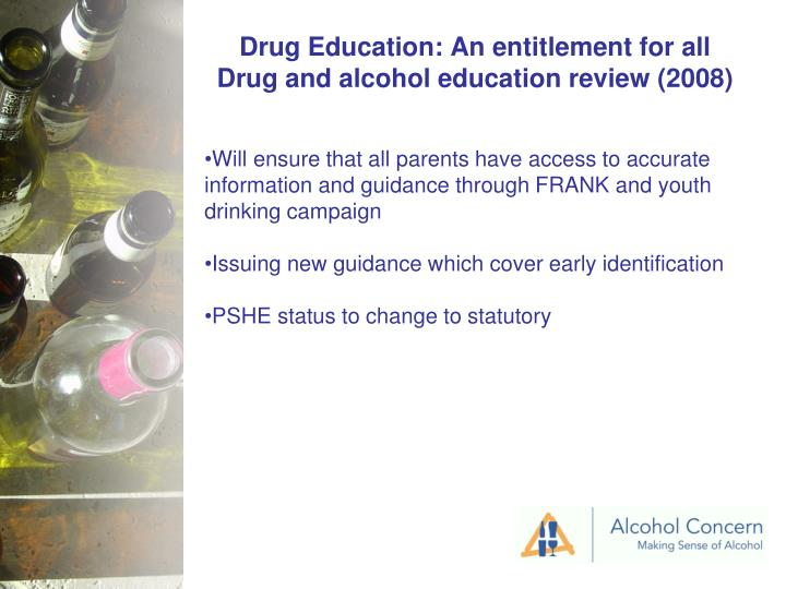 Drug Education: An entitlement for all