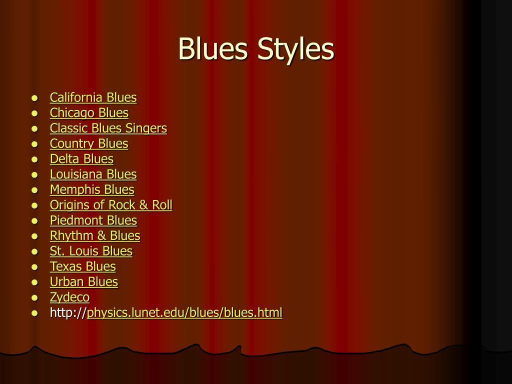 Blues Styles