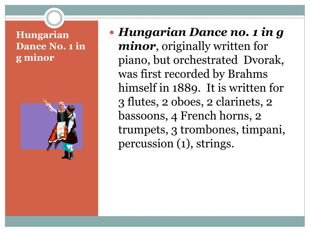 Hungarian Dance no. 1 in g minor