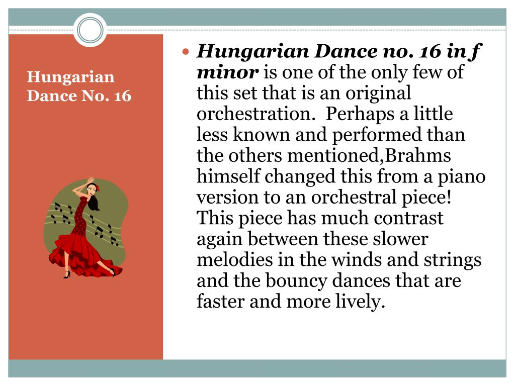 Hungarian Dance no. 16 in f minor