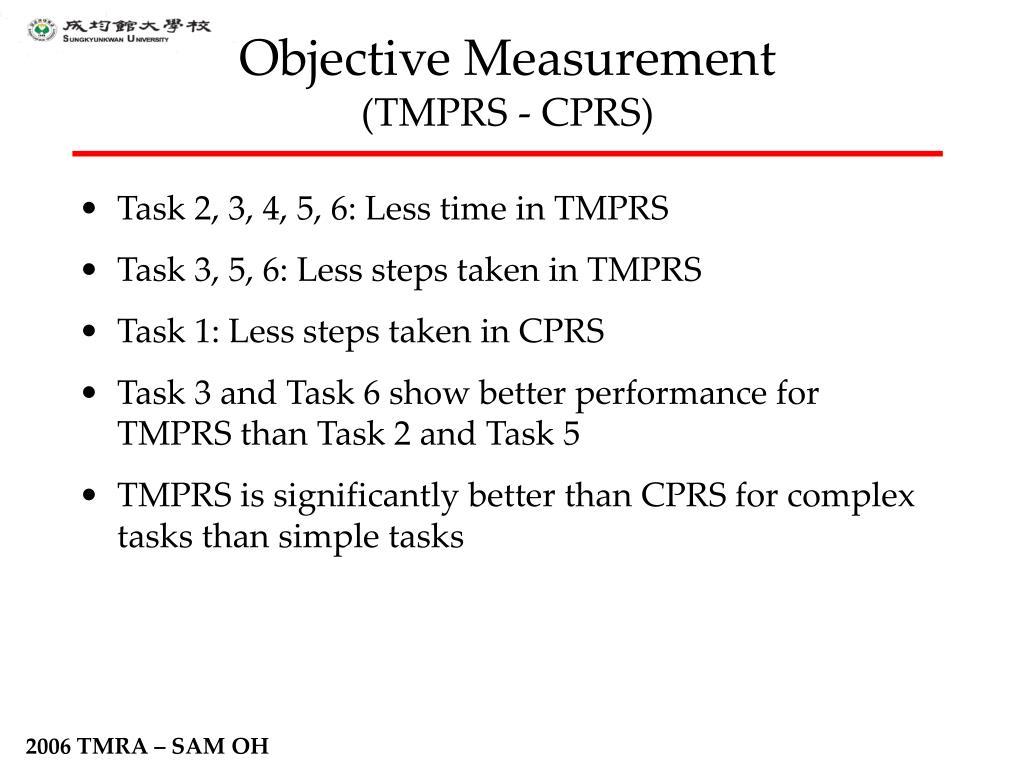 Objective Measurement