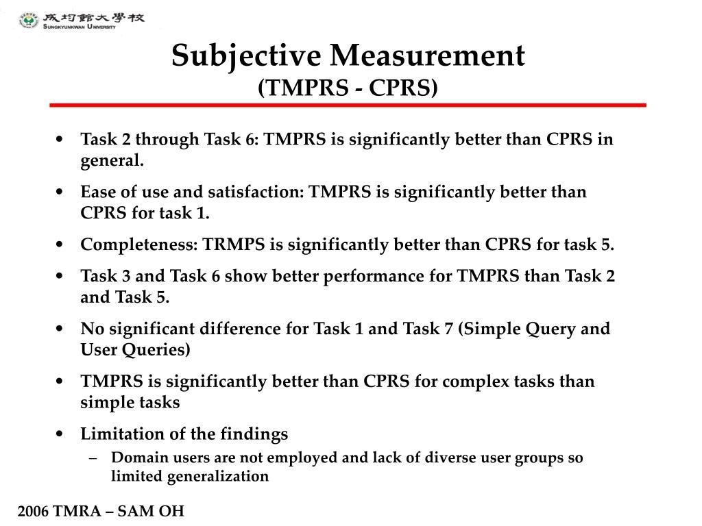 Subjective Measurement