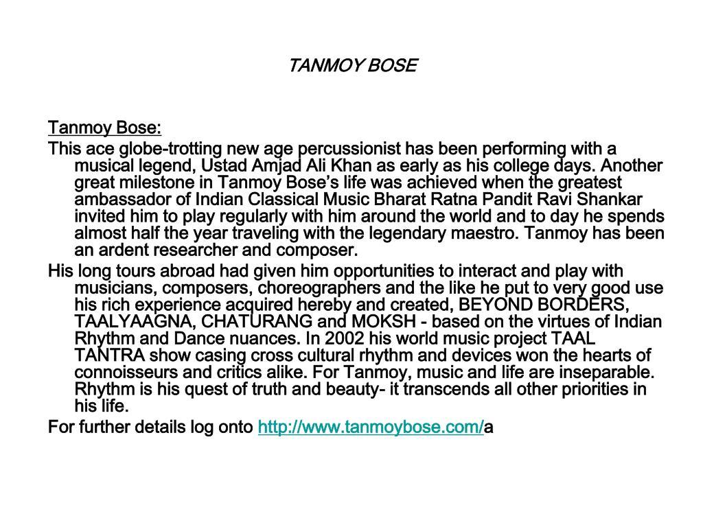 TANMOY BOSE