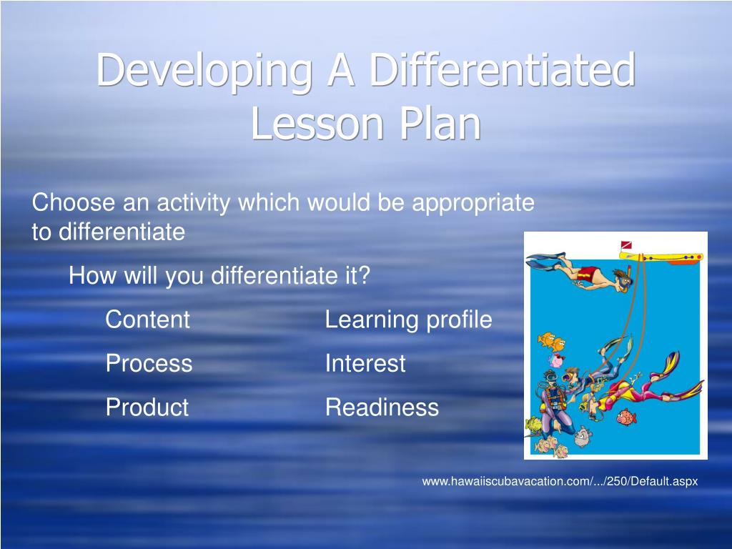 Developing A Differentiated Lesson Plan