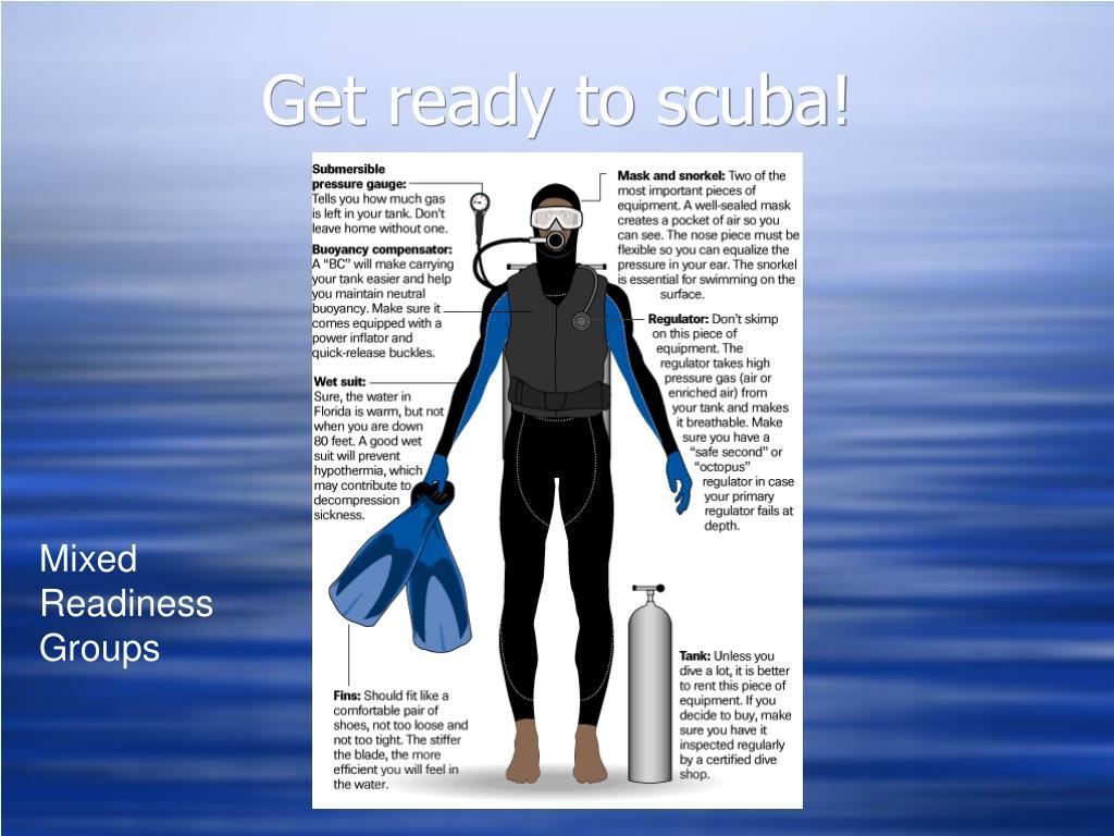 Get ready to scuba!