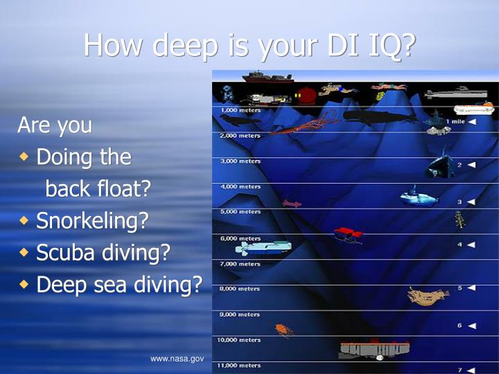 How deep is your di iq