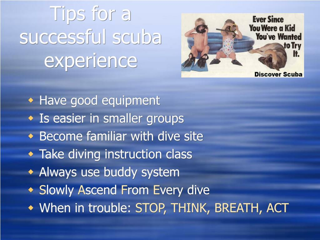 Tips for a successful scuba experience