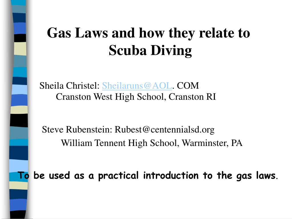 Gas Laws and how they relate to