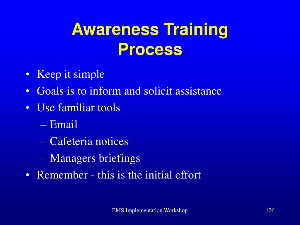 Awareness Training