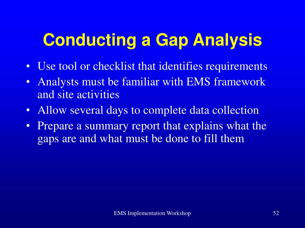Conducting a Gap Analysis