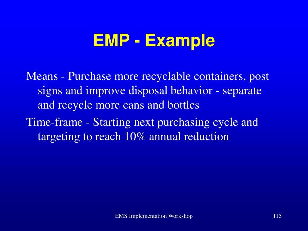 EMP - Example