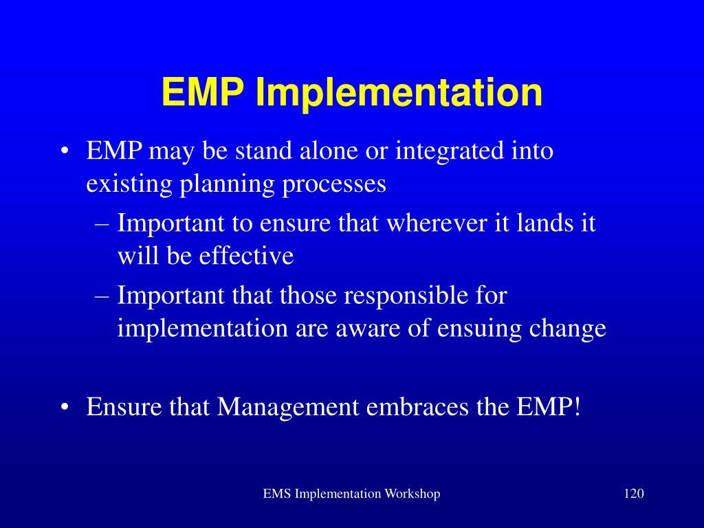 EMP Implementation
