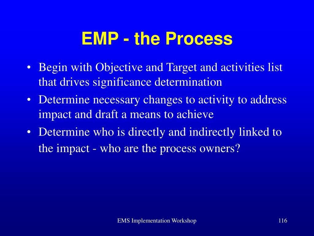 EMP - the Process
