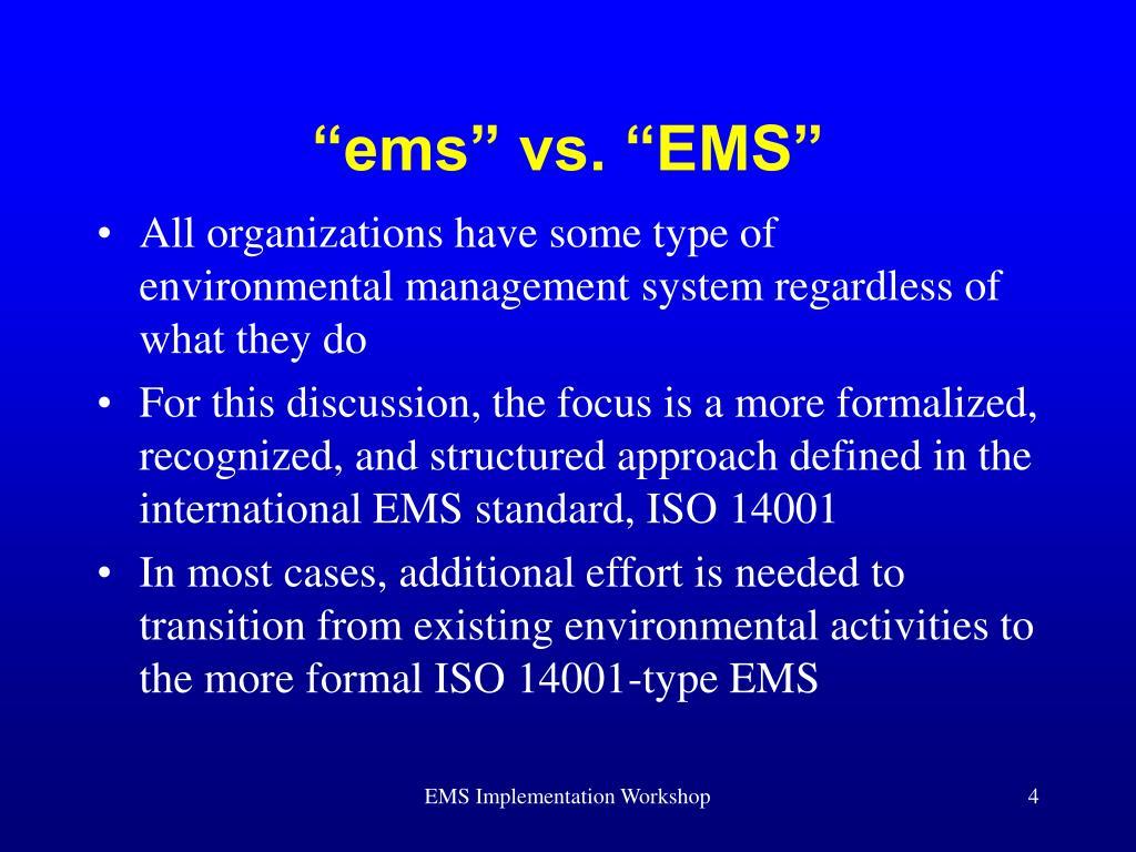 """""""ems"""" vs. """"EMS"""""""
