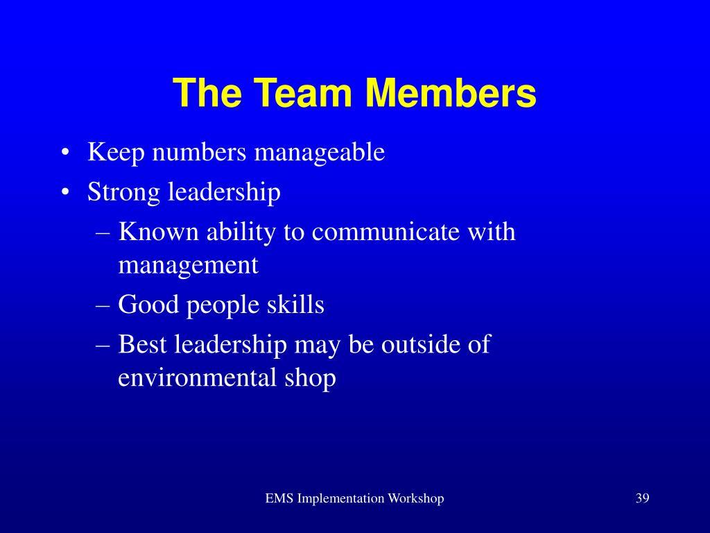 The Team Members