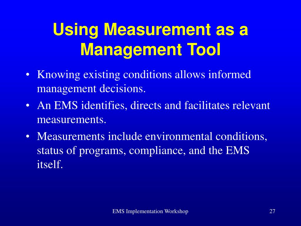 Using Measurement as a Management Tool