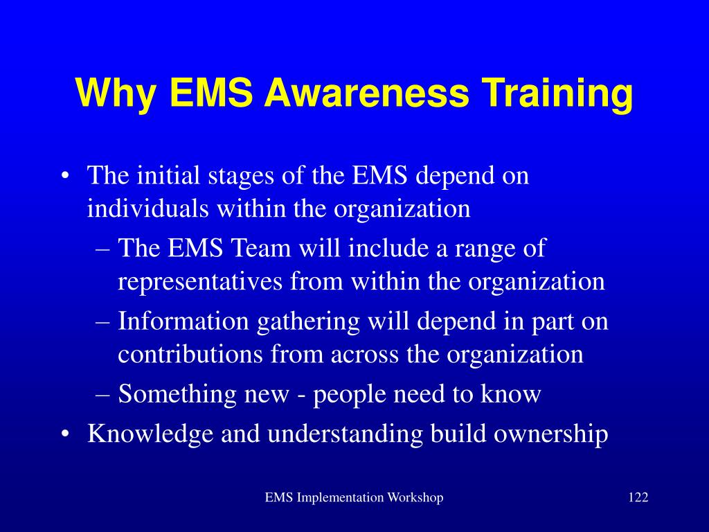 Why EMS Awareness Training